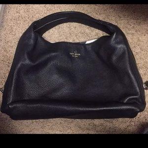 Kate Spade black leather shoulder purse
